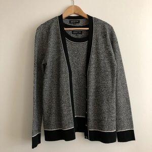 2pc Jones New York Sweater Cardigan + vest